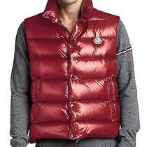 Moncler Tib Puffer Vest Wine Size Xl  Nwt Photo