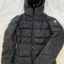 Moncler Women Down Puffer Jacket Apex (Size 3) Hooded Belted 100% Authentic Photo