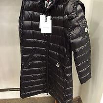 Moncler Womens Moka Black Lacquer Jacket - Size 4 Photo
