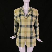 Mondi by Escada Vintage Plaid Wool Blazer Jacket Punk Grunge Photo