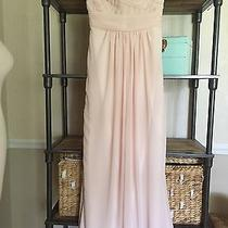 Monique Lhuillier Pink Blush Pleated Chiffon Sweetheart Bridesmaid Dress Gown 10 Photo