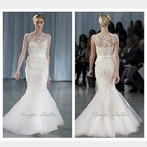Monique Lhullier Luella Wedding Dress  in Blush Sz. 8/6 Photo