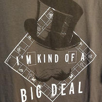 Monopoly Gray Xl i'm Kind of a Big Deal Shirt Parker Bro Nwot Top Hat Mustache Photo