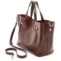 Monserat De Lucca Small Docente Tote Satchel Bag Brown Nwt Photo
