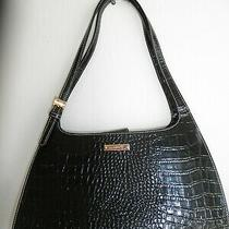 Montana Ranch Attic Find Ooak Stylish Black Alligator Hard Leather Buckle Purse Photo