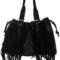 Montana West Hobo Bag Fringed Purse Faux Leather Drawstring Handbag Pick Color Photo