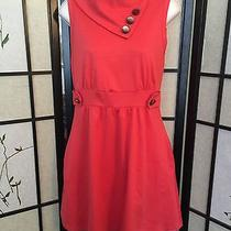 Monteau Red Coach Tour Dress Retro Vintage Modcloth Size Small Photo