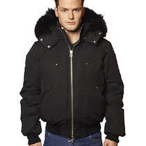 Moose Knuckle Men's Ballistic Bomber Jacket Black With Black Fur in Medium Photo