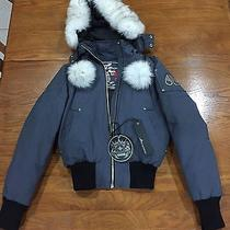 Moose Knuckles Debbie Bomber Jacket With White Fur Photo