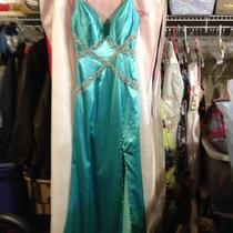 Mori Lee Aqua Blue Prom Dress Size 4 Photo