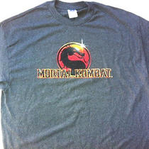 Mortal Combat Logo Hot Topic Tee Video Game Shirt Gray Xxl New Photo