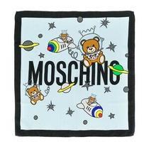Moschino 100% Silk Scarf Teddy Bear Spacebear Space Astrology Galaxy Star Planet Photo