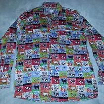 Moschino All Over Cow Print Shirt Large Photo