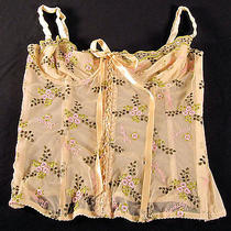 Moschino Beige Bustier Corset Semi Sheer Usa 34 Sz S M Top Boned Designer Italy Photo