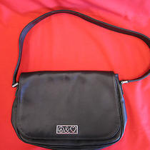 Moschino Black Purse Shoulder Bag Satchel Peace and Love Photo