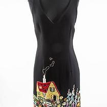 Moschino Black Wool Dress With Embroidery Photo