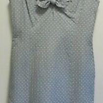 Moschino Blue & Yellow Polka Dot Spotty Midi Dress - Bow Detail - Uk 12 Photo