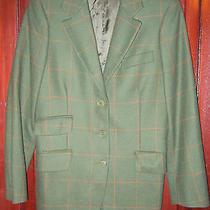 Moschino Cheap and Chic 36 S M Blazer Jacket Wool Plaid Check Boyfriend Mod Photo