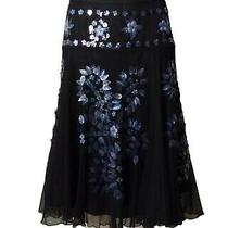 Moschino Cheap and Chic-Black Net Paillet Embellished Skirt Size-4 Photo