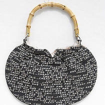 Moschino Cheap and Chic Graphic Logo Hobo Purse Bag Bamboo Handle Photo