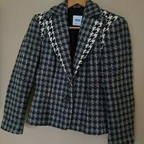 Moschino Cheap and Chic Grey With White and Black Check Blazer Jacket Size 6 Photo