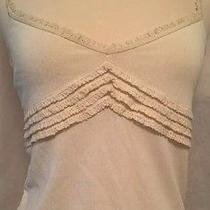 Moschino Cheap and Chic Ivory Ruffled v-Neck Top Blouse Sz 6 Mint Photo