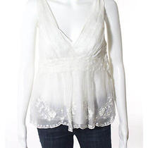 Moschino Cheap and Chic Ivory Sleeveless Floral Lace Detailed Blouse Sz 6 Photo