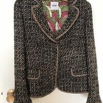 Moschino Cheap and Chic Jacket Brown Tweed Size 44 Us 10 Bow-Embellished Blazer Photo
