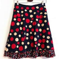 Moschino Cheap and Chic Red Black Cream Blue Polka Dot Skirt Size 12 Photo