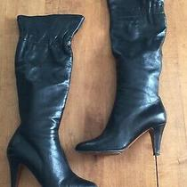 Moschino Cheap & Chic Black Leather Knee High Boots Size Eu 39 or Us 9 Photo