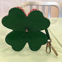 Moschino Cheap & Chic Four Leaf Clover Coin Purse Keychain Fob Photo