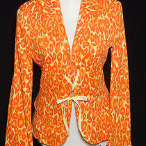 Moschino Cheap & Chic Leopard Print Orange/yellow Corset Closure Blazer Sz 8 Photo