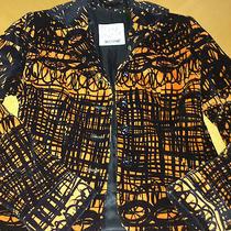 Moschino Cheap & Chic Velvet Blazer Jacket Orange & Black Rare / Unique Womens 6 Photo