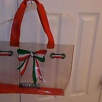 Moschino Clear Bag Handbag Purse Tote Shopping Beach Bag Photo