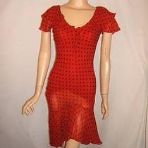 Moschino Couture 6 8 Super Sexy Red Polka Dots Spanish Silk Vintage Dress Photo