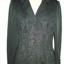 Moschino Couturecorset Laceup Jacket Black 44eu Photo