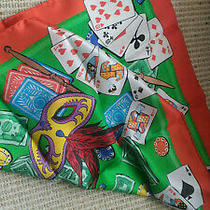 Moschino Couture Poker Haute Flush 100% Silk Playing Cards Scarf Photo