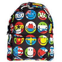 Moschino Couture Smiley Face World Flags Backpack Jeremy Scott Black Lmt Soldout Photo