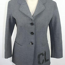 Moschino Couture Vintage Grey Blazer Jacket W Letters Size 10 Italy  Photo