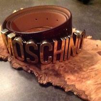 Moschino Cranberry Patent Leather Belt  Photo