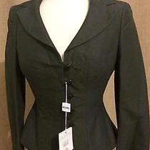 Moschino Fitted Cropped Black Blazer Photo