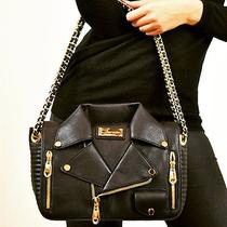 Moschino Inspired Black Motorcycle Jacket Purse Photo