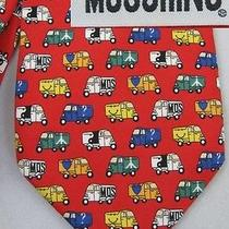 Moschino Italy Silk Pop Art Three Wheel Car Novelty Tie Photo
