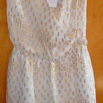 Moschino Ivory Cocktail Mini/party Dressori1680 Newsilk W/gold Applications Photo