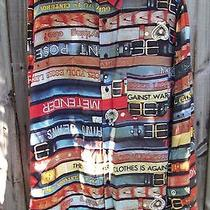 Moschino Jeans L/s Shirt Belts Print Xl Rare Vintage Projected in Italy 90s Euc Photo