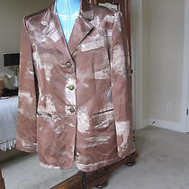 Moschino Jeans Made Italy Jacket Blazer Size 12 L Great Design Slit Mint Photo
