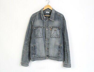 Moschino Jeans Vintage Mens Denim Jacket Gray Size XXL Photo