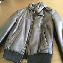 Moschino Leather Bomber Jacket Photo