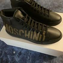 Moschino Logo High Top Leather Sneakers Msrp 450 Eu 41/us 11 Photo