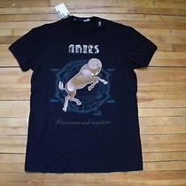Moschino Love Cool Fun Horoscope Aries Black T Shirt Xl Photo
